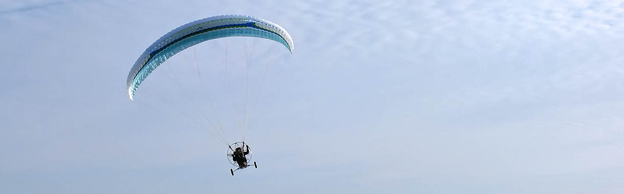 Paramotor paraglider: T-Fighter - independence paragliding